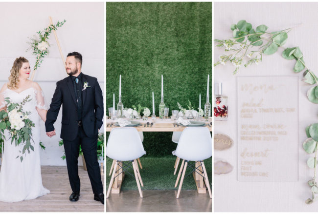 Minimalist, Scandinavian-Inspired Greenery Wedding Inspiration