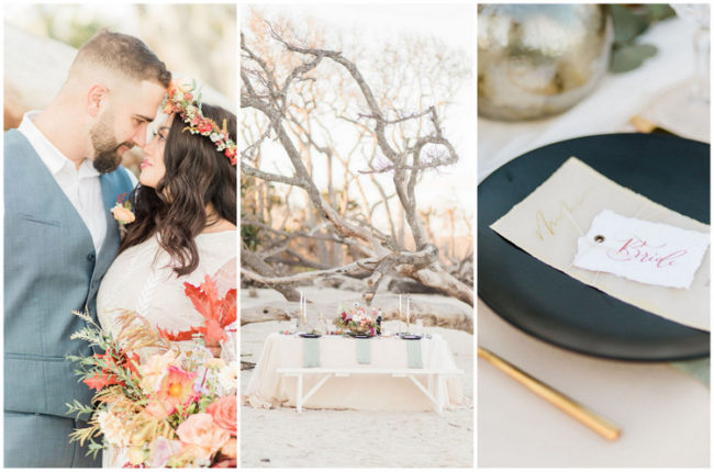 Romantic Bohemian Beach Wedding Ideas