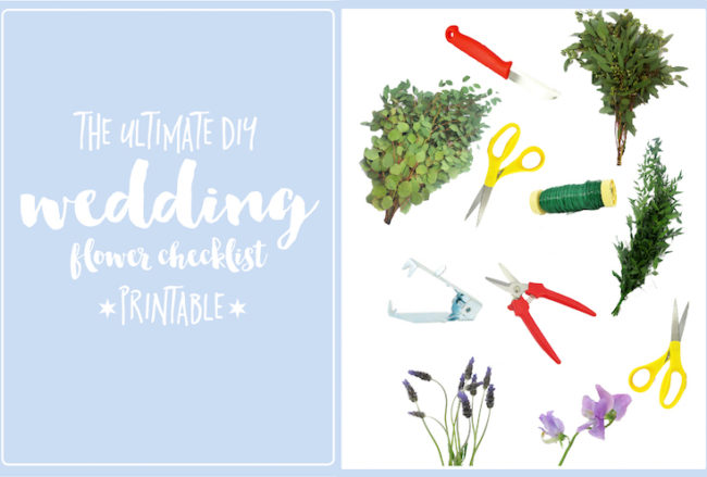 The Ultimate DIY Wedding Flower Checklist (Printable)