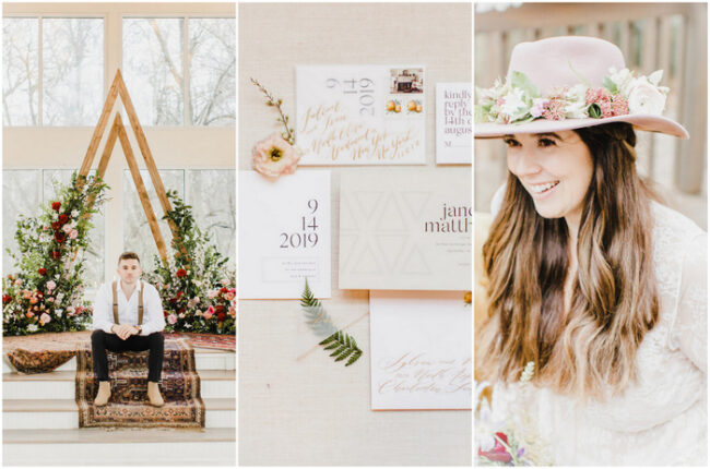 Modern Bohemian Wedding at Glass Chapel Oklahoma
