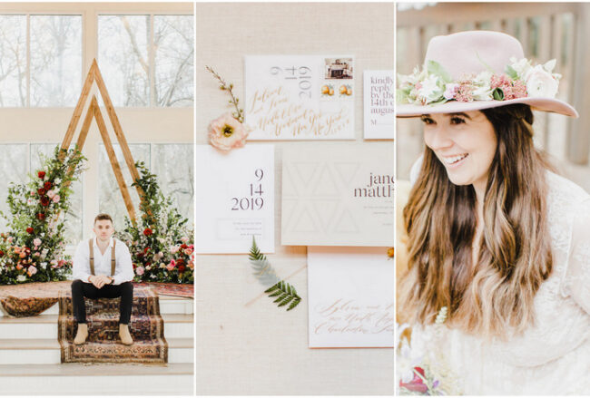 Boho Wedding at Oklahoma's Glass Chapel with Macrame Deets