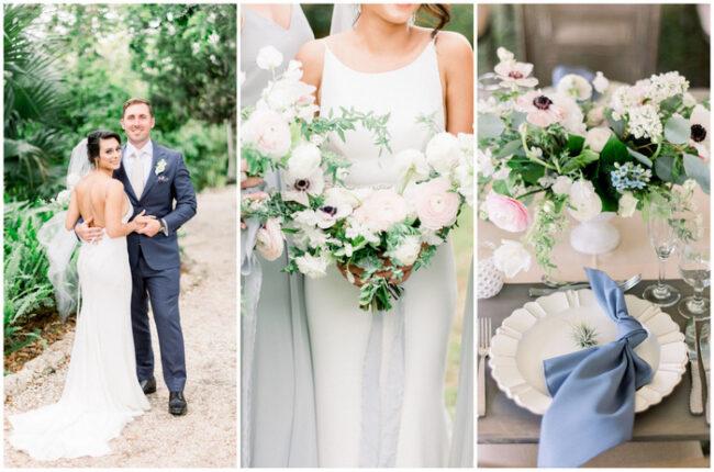 Slate Blue and Blush Pink Spring Wedding