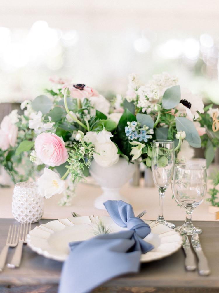 Slate Blue and Blush Pink Wedding