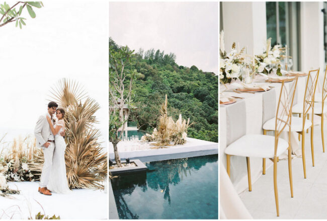 Tropical Elegance: Dried Flowers + Pampas Grass Wedding