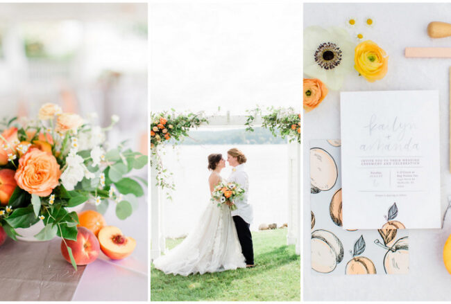 Playful Peach + Citrus Summer Wedding Ideas