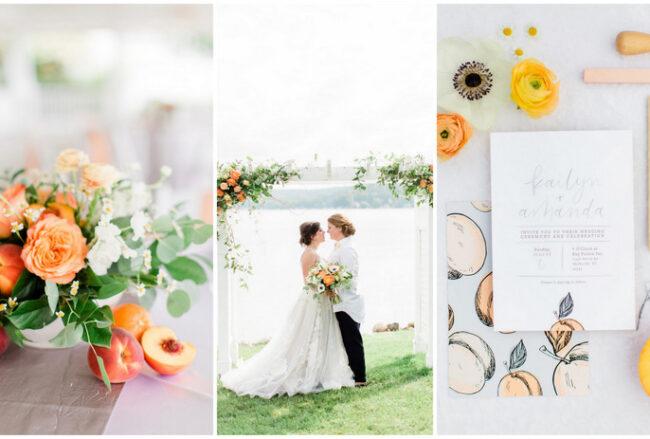 Playful Peach + Citrus Summer Wedding Ideas