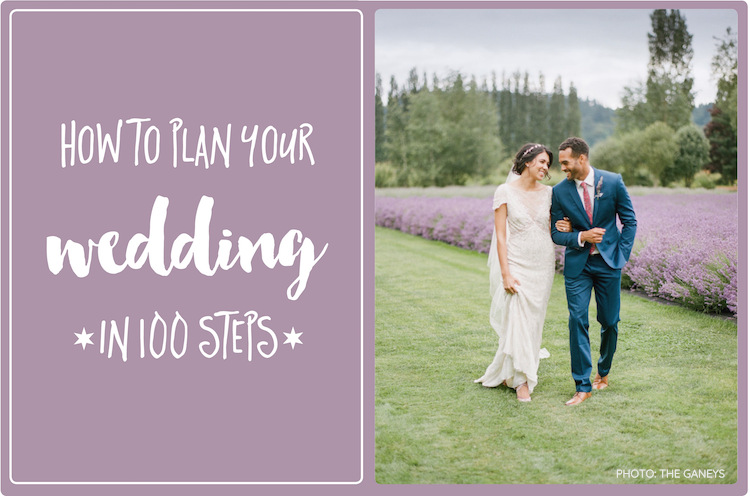 How to plan a wedding - detailed step by step list.
