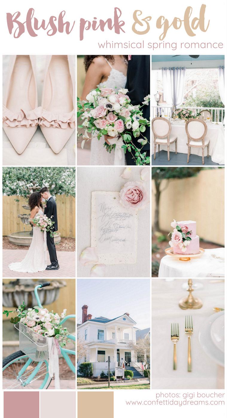 Light Pink + Gold Spring Wedding Details + Ideas