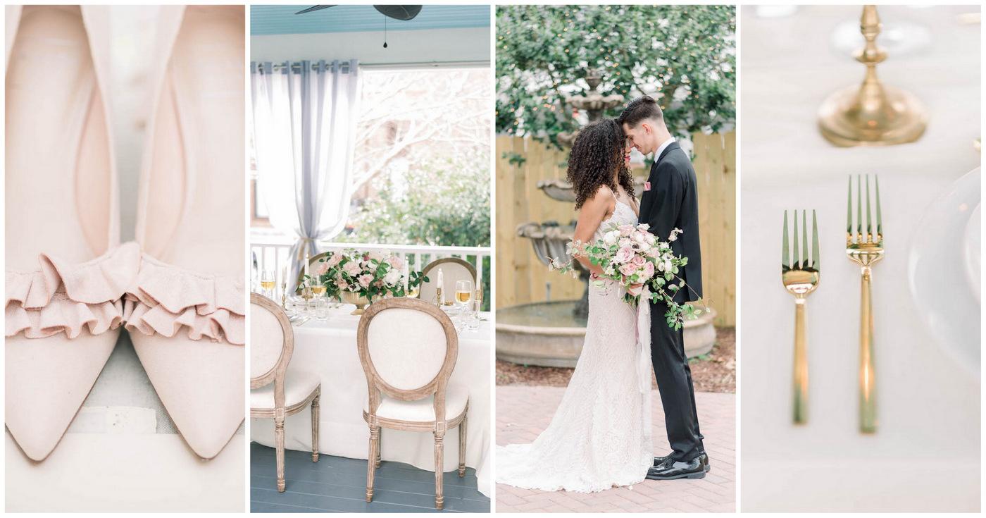 Light Pink + Gold Spring Wedding Details + Ideas at Jarvis at 220