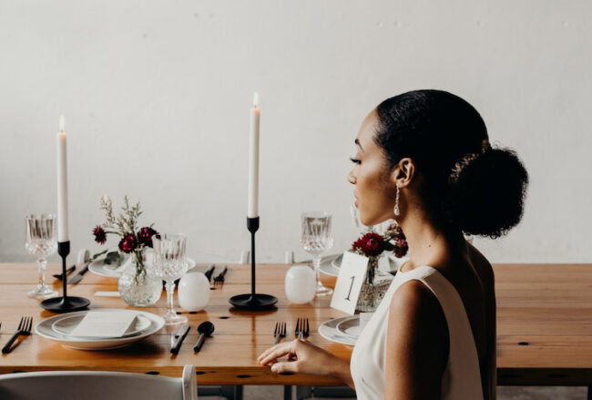 Minimalist Modern Bride Inspiration in Black + White