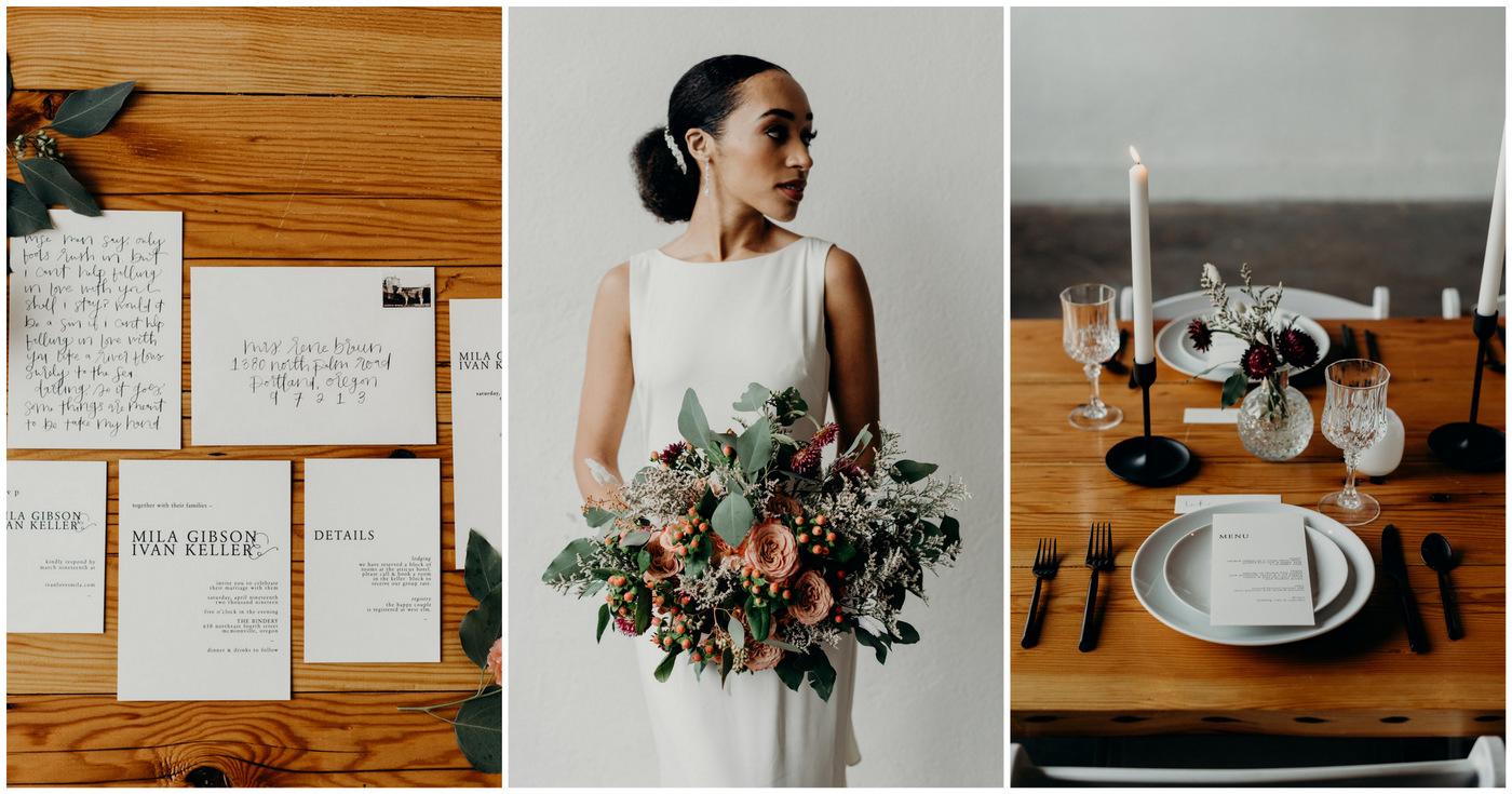 Minimalist Modern Bride Inspiration in Black + White