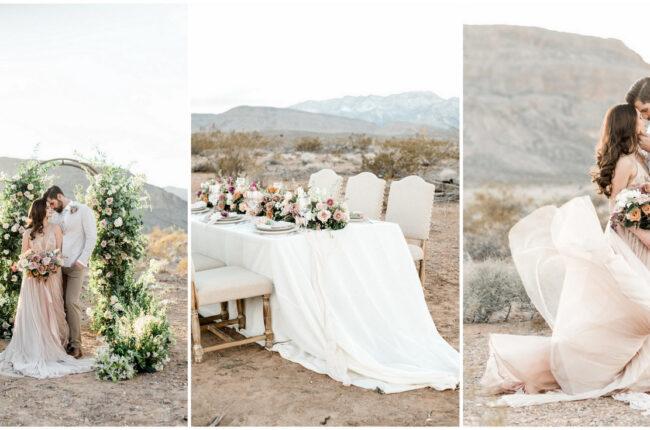 Romantic desert wedding Las Vegas
