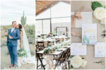 Blue Gold and Mint Desert Wedding