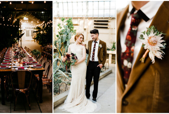 Beautifully Moody 1920s Conservatory Wedding in Chicago