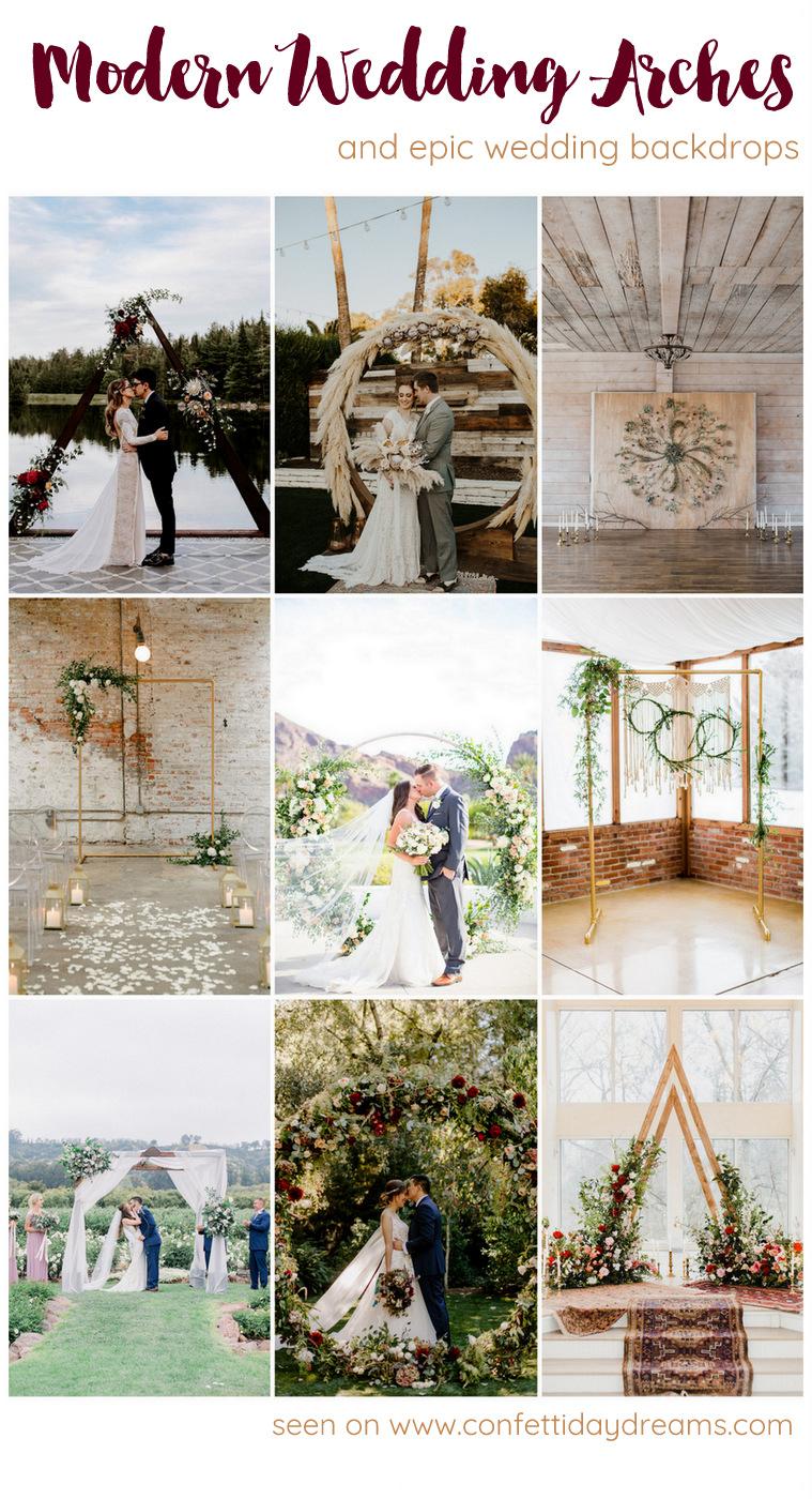 Modern Wedding Arches