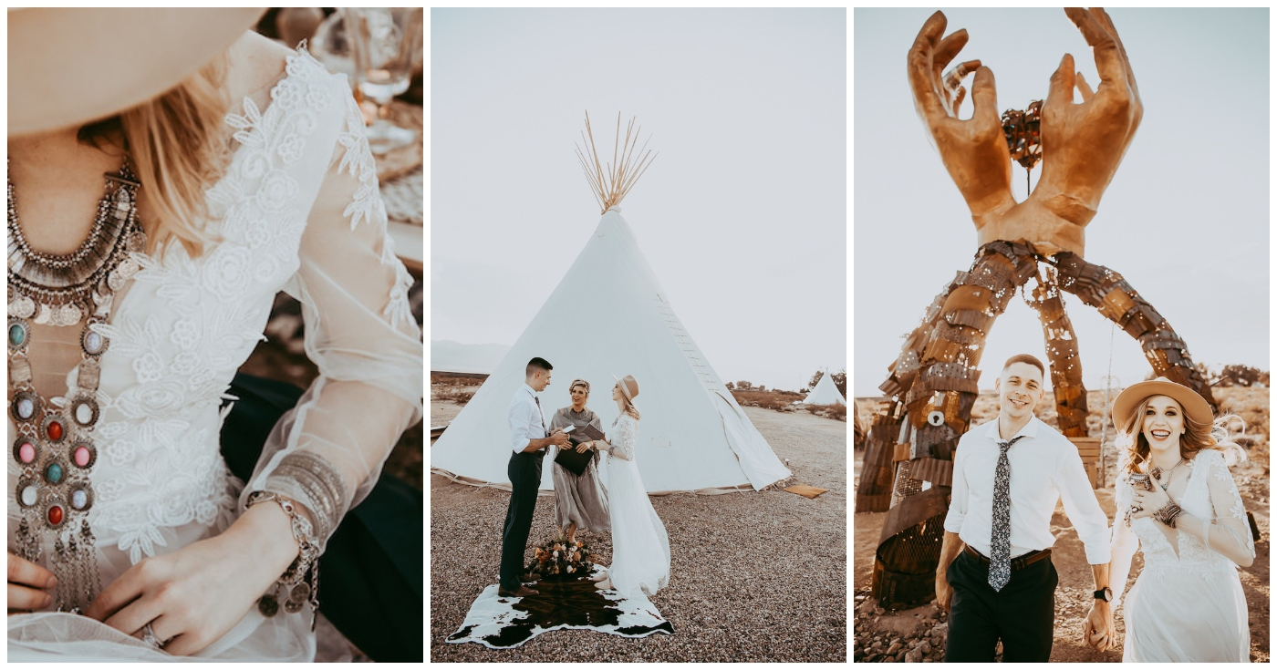 Boho Festival Elopement Nipton Burning Man