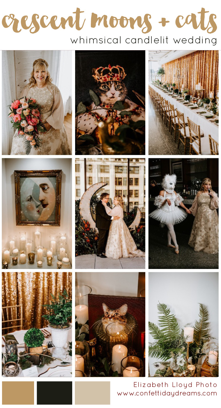 Cat Inspired Crescent Moon Wedding