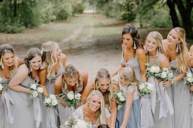 Slate and Light Blue Dog Lovers Wedding