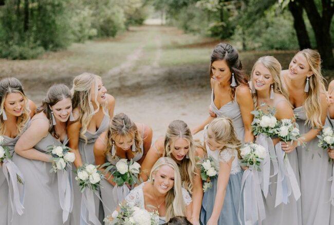 Romantic Slate + Light Blue Wedding – with Pups!
