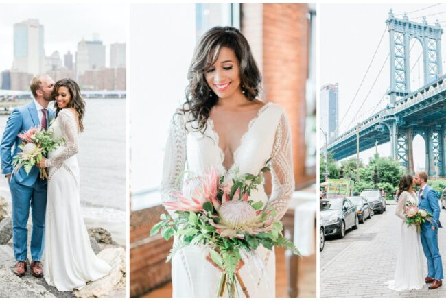 Intimate Brooklyn Wedding with Epic Manhattan Backdrop