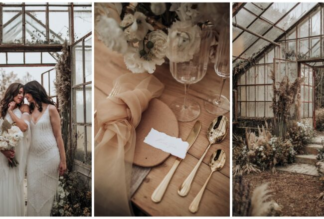Forgotten Glasshouse Fairytale: An Eclectic, Moody Wedding