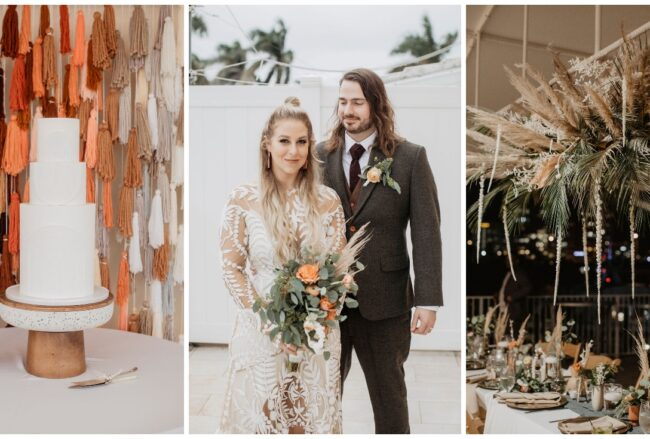 Earthy diy boho Southwestern wedding