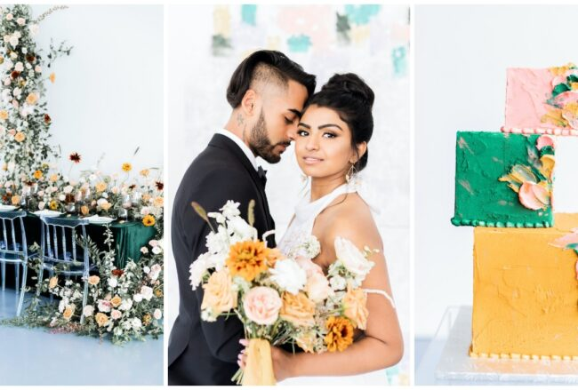 Bright + Whimsical Modern Art Gallery Wedding