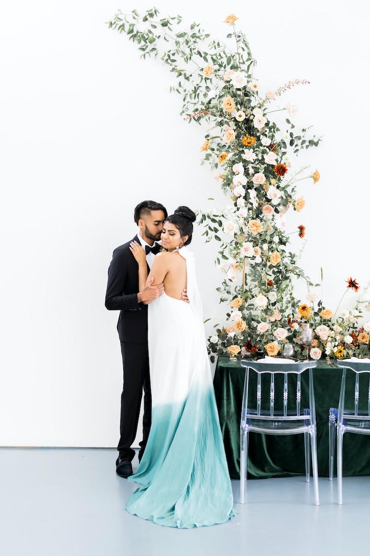 Whimsical Modern Art Gallery Wedding