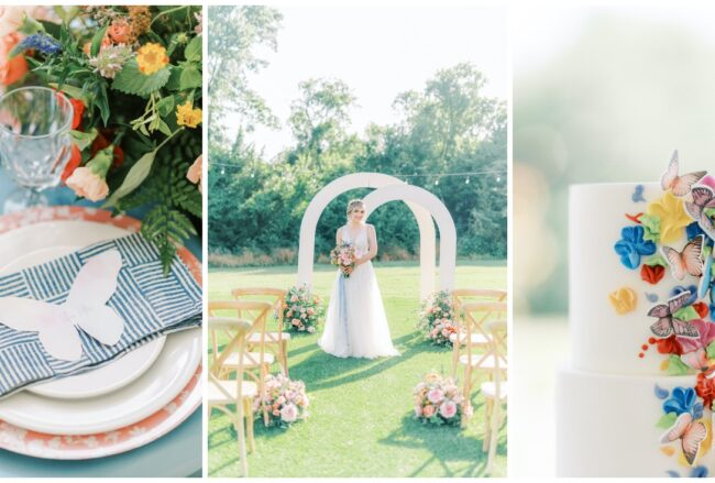 Beautifully Colourful + Whimsical Butterly Wedding