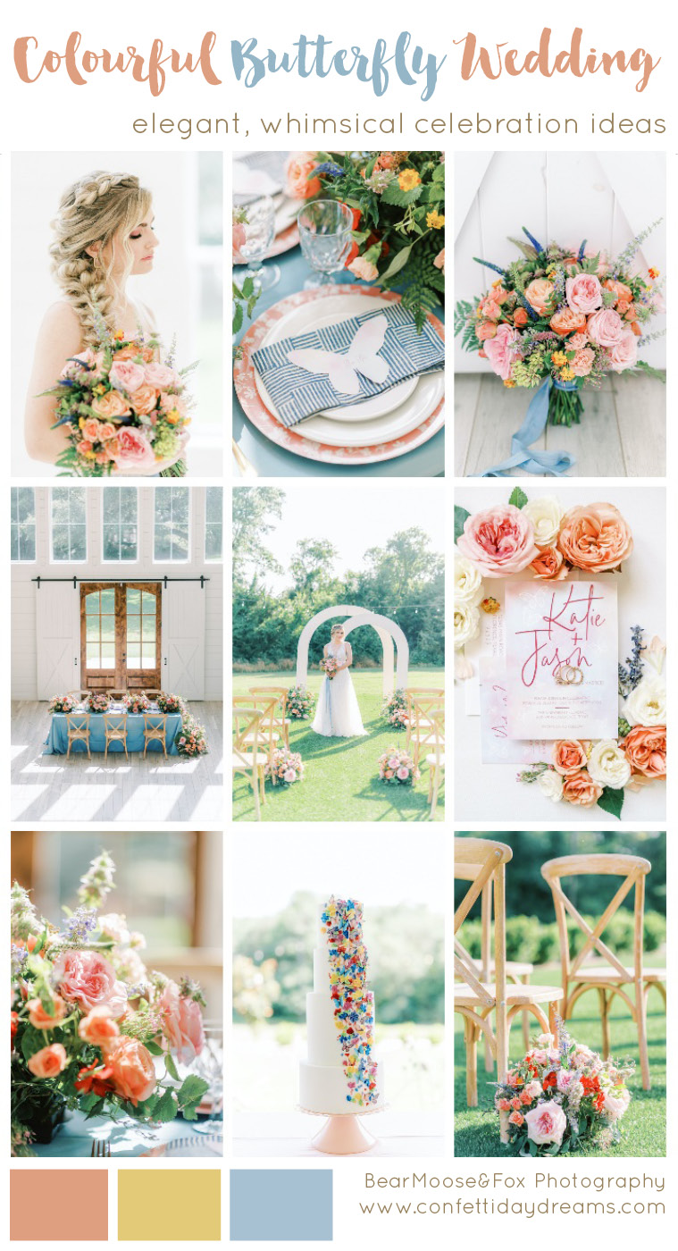 Colourful Butterly Wedding Theme