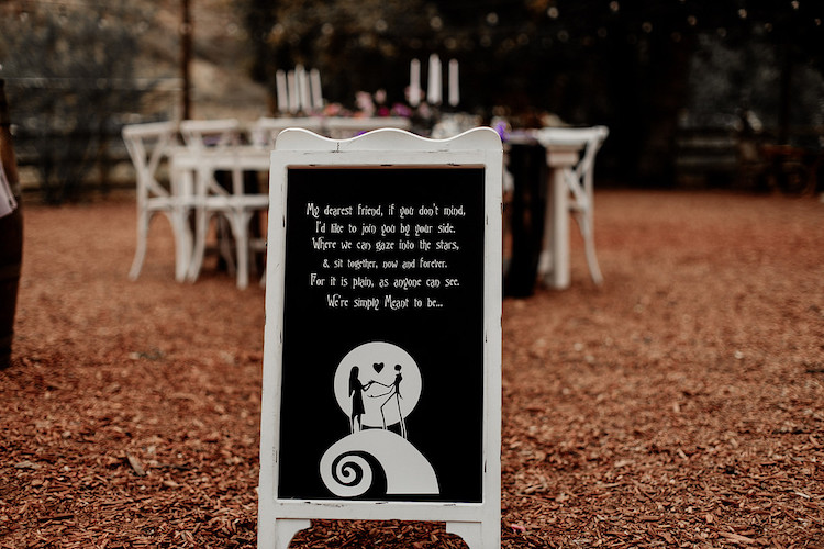 Nightmare Before Christmas Wedding Theme