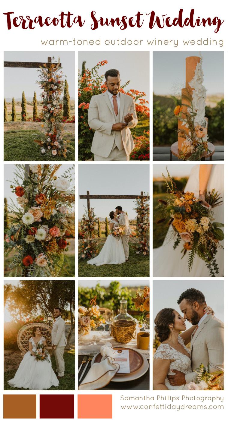 Rust Terracotta Burnt Orange Wedding Theme