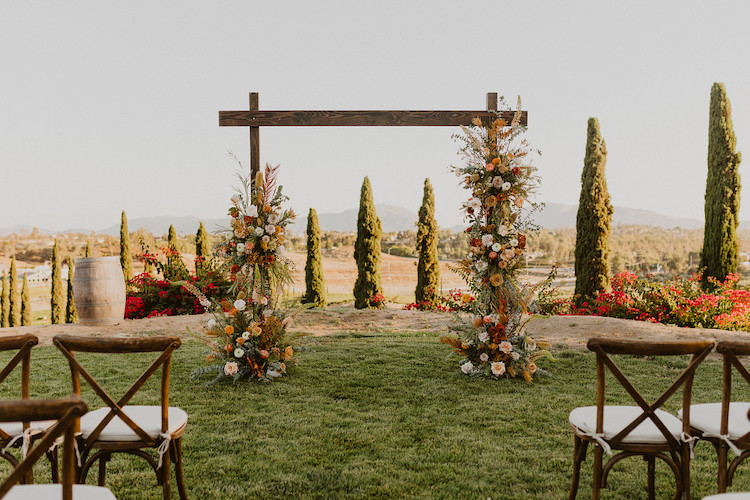 Rust Terracotta Burnt Orange Wedding at Callaway Winery