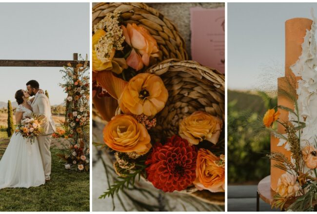 Rust Terracotta + Burnt Orange Sunset Wedding at Callaway Winery