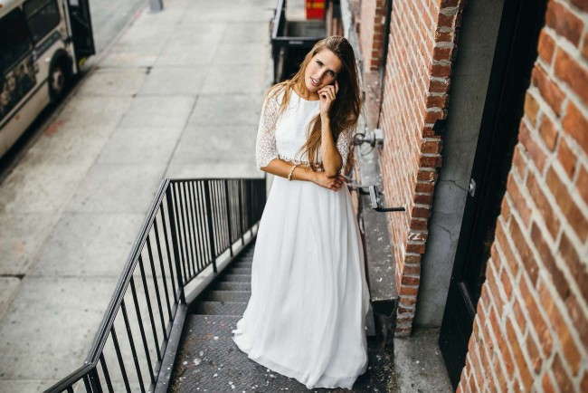 A French Girl in New York: Aurelia Hoang Wedding Gowns. Photographed by Jean-Laurent Gaudy