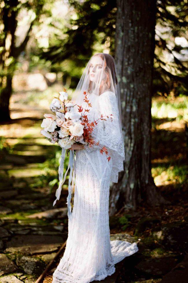 Delicately Divine Autumn Bride Inspiration by Bride La Boheme
