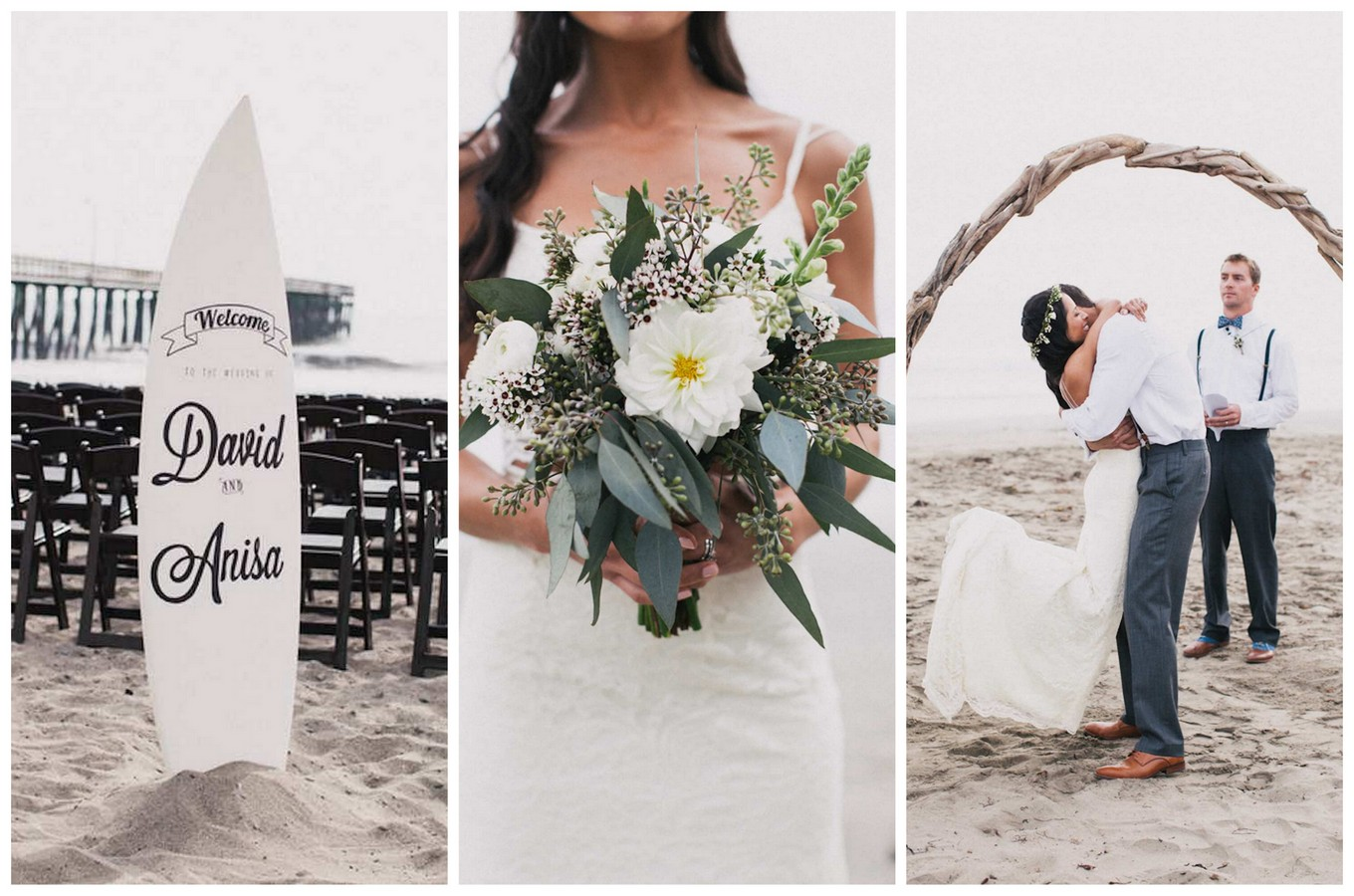 Bohemian 'Surf Fiesta' Beach Wedding {Alexandra Wallace Photography}