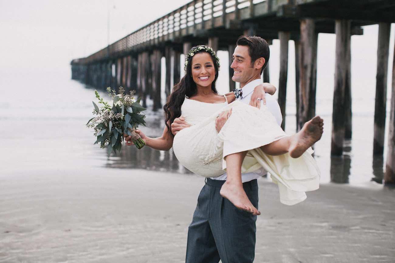 Bohemian Surf Fiesta Beach Wedding - Alexandra Wallace Photography