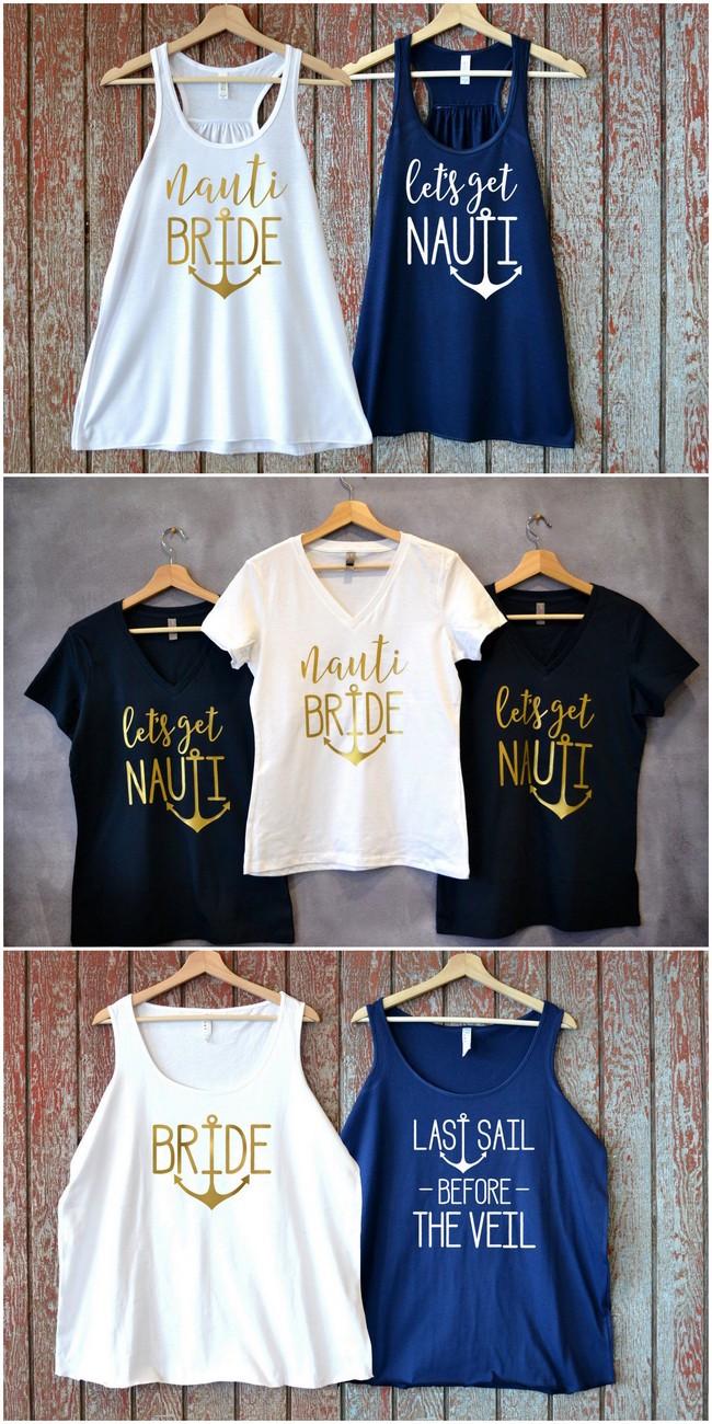 Nautical Bridal Party Shirts