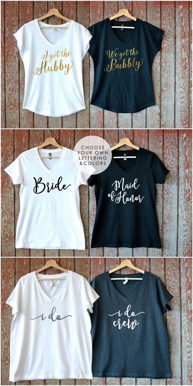 Bridesmaid Quote Shirts