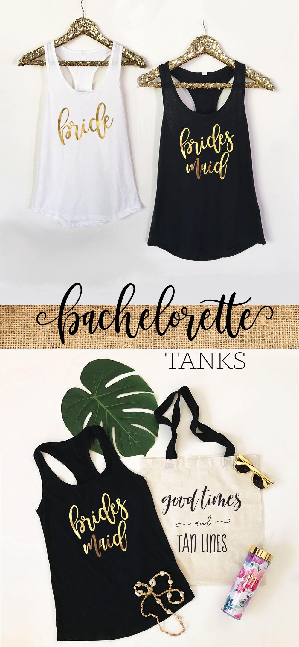 Bridesmaid Bachelorette Tanks
