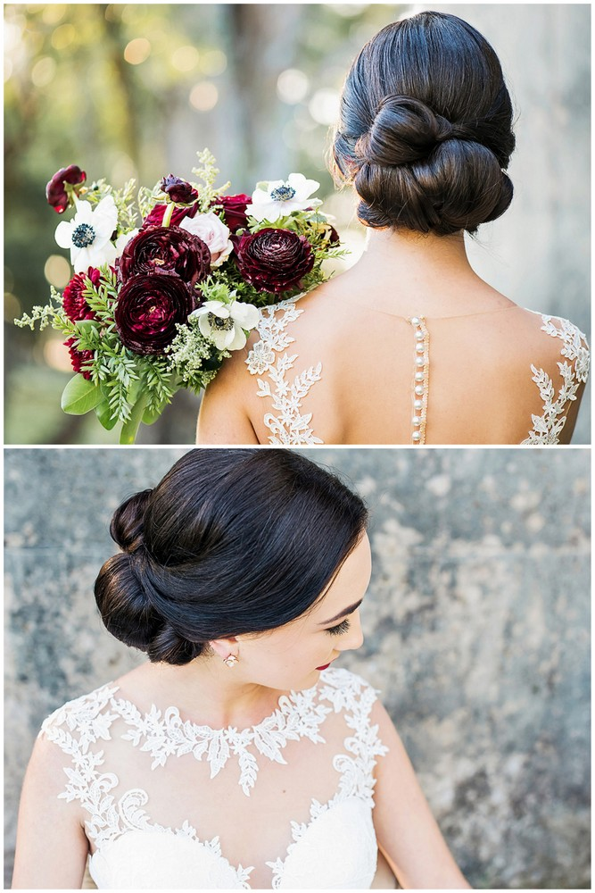 Burgundy Red and Navy Blue Wedding