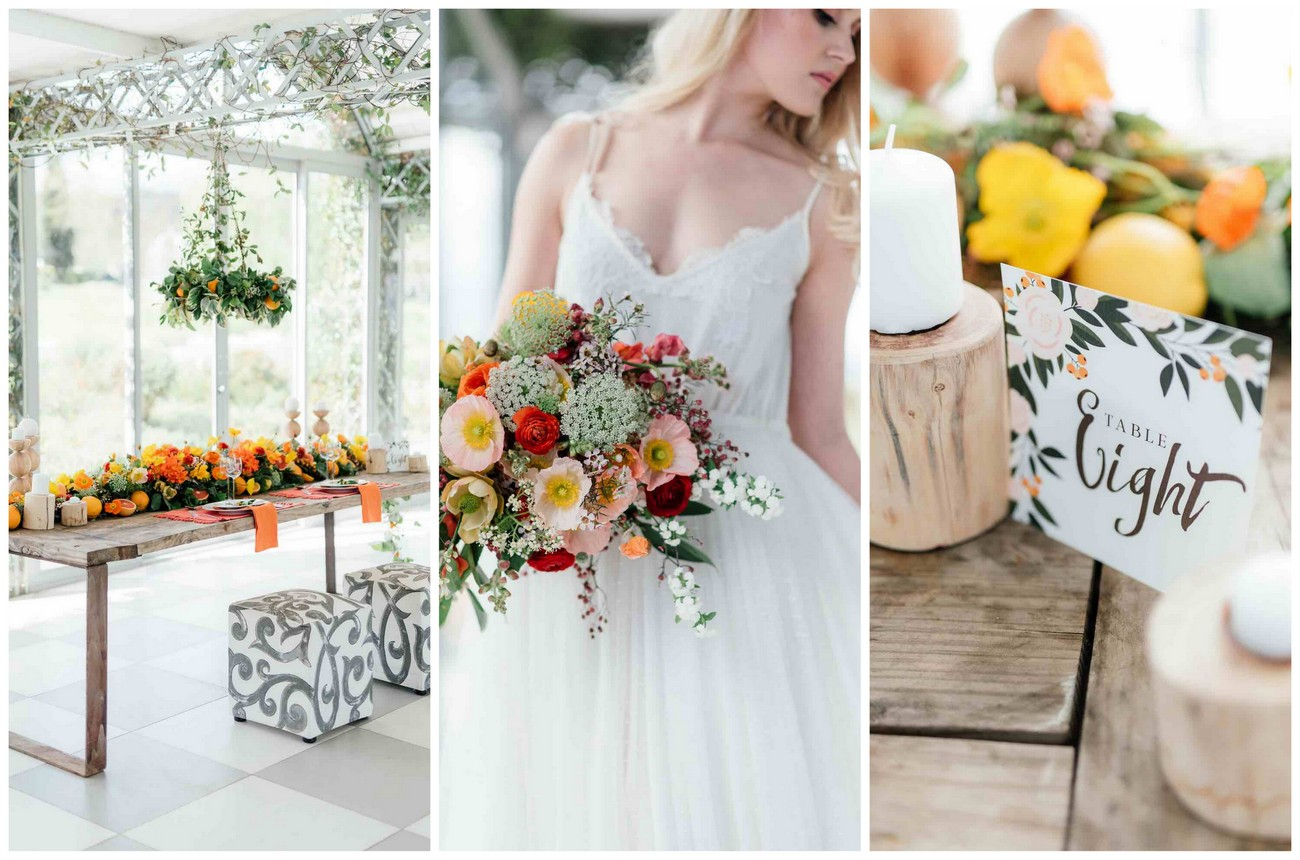 Spectacular Citrus Wedding Ideas {Debbie Lourens Photography}
