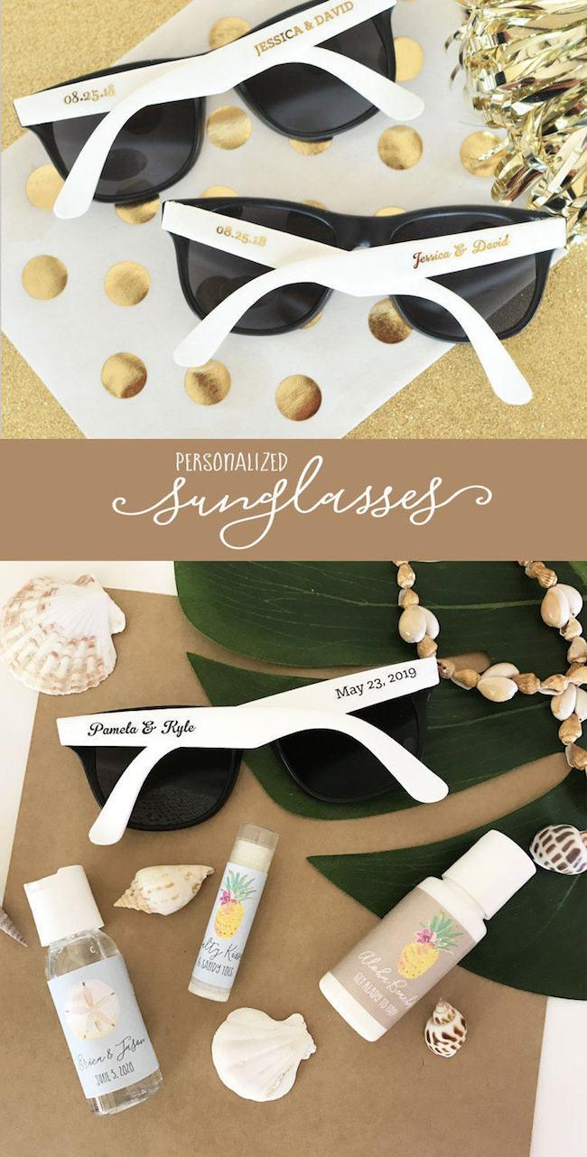 DIY Beach Wedding Sunglasses Favor