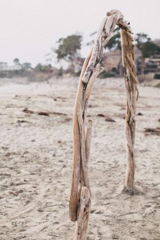 DIY beach wedding arch from drift wood