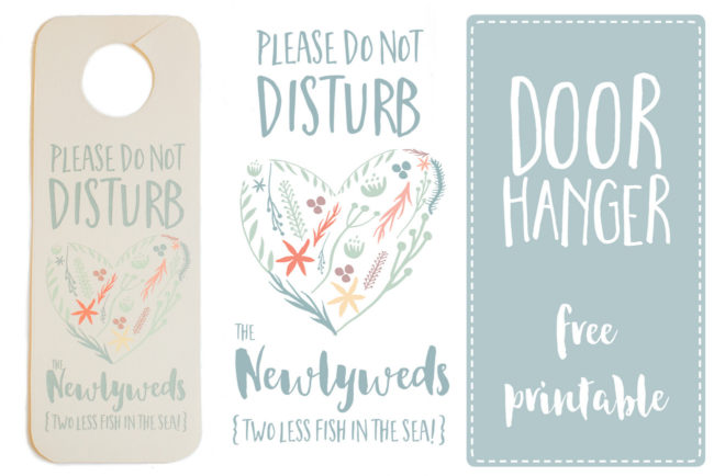 Do Not Disturb Newlywed Door Hanger Printable 4