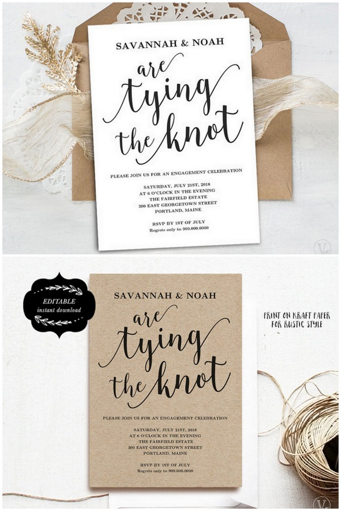 Downloadable Engagement Party Invitation Templates