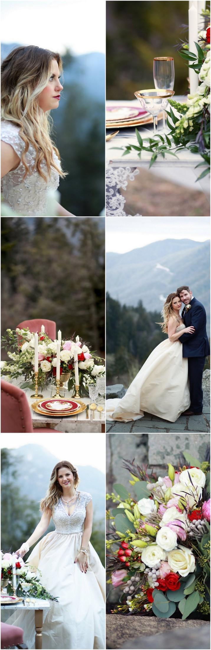 Elegant Smoky Mountain Wedding Anniversary