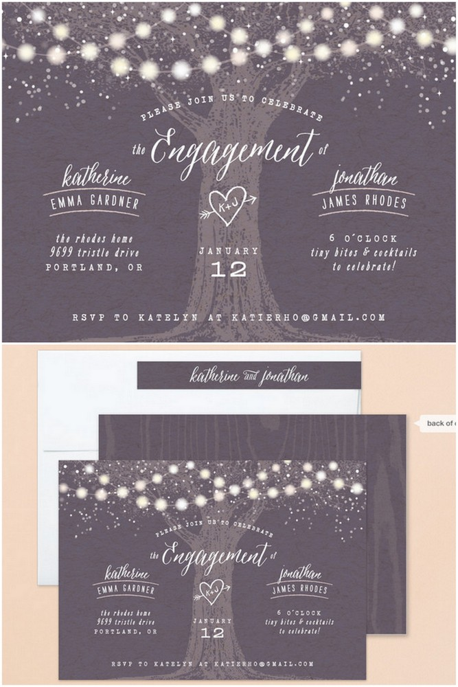 Engagement Invitation Cards