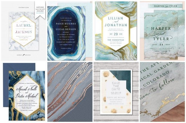 15 Geode Agate and Crystal Wedding Invitations to Rock Your World!